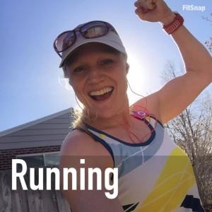 Coach Lora Erickson running tank top weather