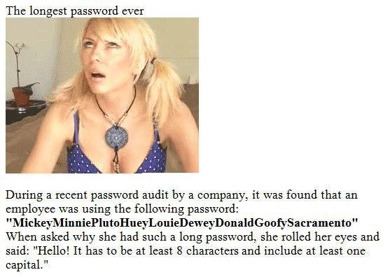 password blonde