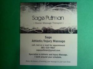 sage pullman massage 6.25.2013