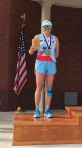 coach lora 2nd place soldier marathon